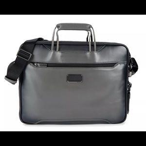 Tumi Arrive Exclusive Hannover Slim Briefcase Grey